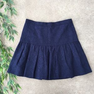 J. Crew Matelasse Drop Waist Textured Skirt